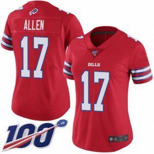 Women Bills Josh Allen 100th Season Jersey (2)